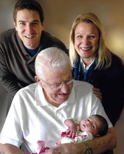 Ben Reynolds, top left, is pictured with his mother Peggy, grandfather Rich Lang, and daughter Ella.
